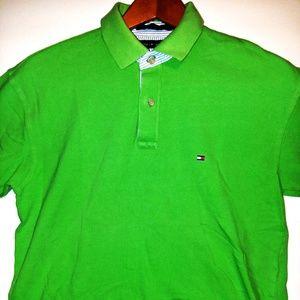 Tommy Hilfiger Men's Polo Shirt Green Sz Large
